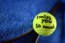 Tennis Ball With The Inscripti...