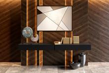 Modern Interior With Dark Illu...