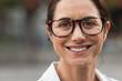 Successful mature woman wearing eyeglasses