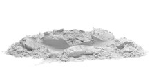 Plaster Cast Isolated On White...