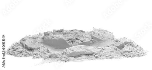 Stampa su Tela Plaster cast isolated on white background, gypsum