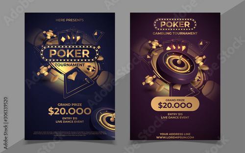 Cuadros en Lienzo Casino poker tournament invitation design
