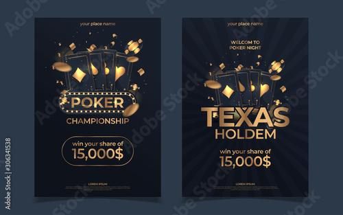 Fotomural Casino poker tournament invitation design