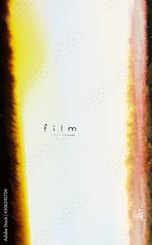 Abstract Half of the image cut off from light effect for film Tablou Canvas