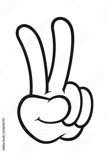 Simbolo della vittoria Canvas Print