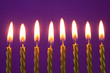 canvas print picture - Burning golden birthday candles