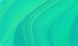curvy background design with light sea green, turquoise and dark cyan color