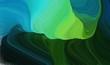 modern soft curvy waves background illustration with medium sea green, medium aqua marine and very dark green color
