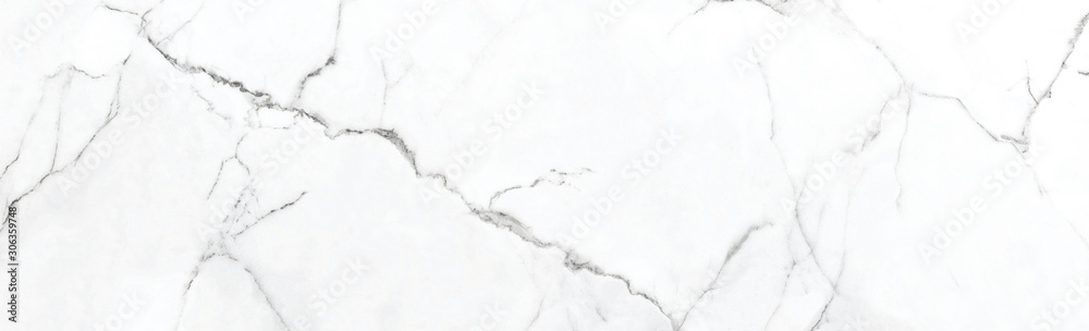 Fototapeta White Marble Texture Background With Grey Curly Veins, Smooth Natural Breccia Marble Tiles, It Can Be Used For Interior-Exterior Home Decoration And Ceramic Tile Surface, Wallpaper.