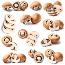 Fresh Champignon Mushrooms On ...