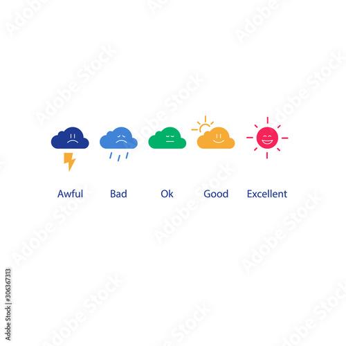 Evaluation concept, good or bad service feedback, customer satisfaction survey Canvas Print