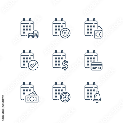 Obraz Financial calendar, annual payment, monthly budget plan, tax refund - fototapety do salonu