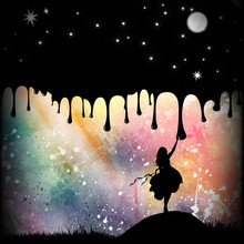 Painter And Her Lullaby Silhouette Art Photo Manipulation
