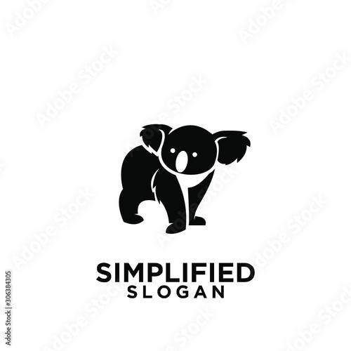 Obraz koala black logo icon design vector - fototapety do salonu