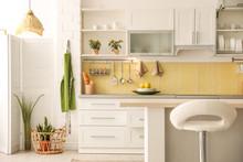 Modern Kitchen Interior With S...