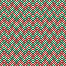 Chevron Diagonal Stripes Background. Seamless Pattern In Christmas Traditional Colors. Zigzag Horizontal Lines Wallpaper