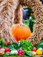 Decoration At A Farmers Market At Thanksgiving