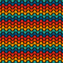 Seamless Surface Pattern Design With Arrows And Pointers. Repeated Chevrons Wallpaper. Zigzag Lines.