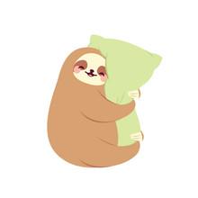 Cute Sloth Hugging Pillow