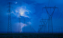 High Voltage Power Lines With ...