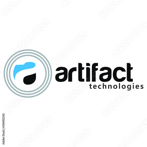 Unique artifact with circle for logo design inspiration - Vector Wallpaper Mural