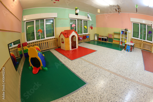 wide hall of a daycare center Wallpaper Mural