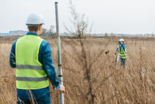 Selective Focus Of Surveyors M...