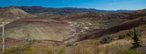 Valokuva  Beautiful landscape of Painted Hills in Eastern Oregon