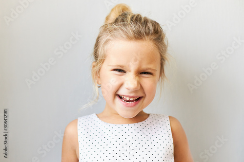 Photo Joy, postive emotions and happy childhood concept