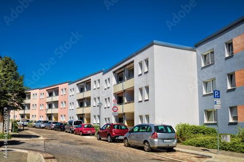 sanierte wohnhäuser in bernau bei berlin, deutschland Wallpaper Mural