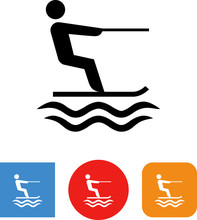 Water Ski Recreation Vector Icon
