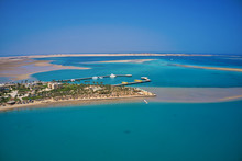 Drone View Of An Island In The Red Sea, Soma Bay