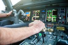A Pilot Hands Controlling Airp...