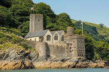 Dartmouth Castle On The River Dart, Devon, United Kingdom
