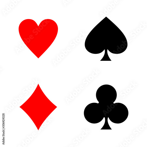 playing card icon vector design symbol of casino Wallpaper Mural