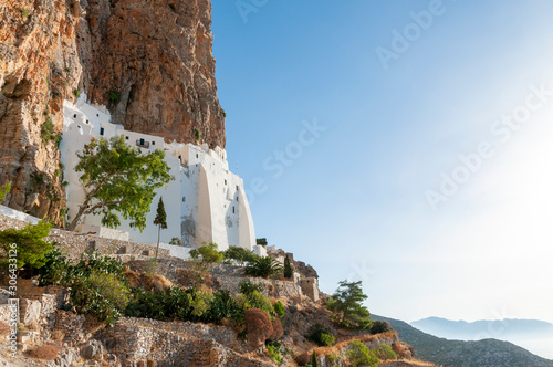 Hozoviotissa Monastery Amorgos Island Greek Islands Greece Wallpaper Mural