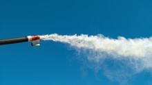 CLOSE UP: White Smoke Comes Bl...