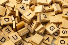 Heap Of Scrabble Tile Letters ...