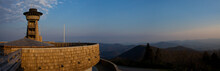 The Lookout Tower At Brasstown Bald Bathed In Late Afternoon Light.