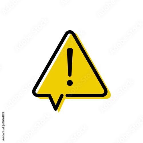Señal de advertencia de peligro Canvas Print
