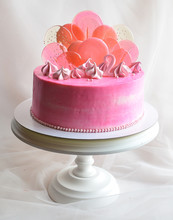 Biscuit Cake With Meringues And Candy