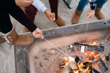 People Making S'mores