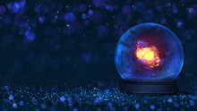 Magic Glass Orb As Christmas C...