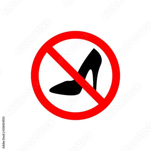 Valokuvatapetti high heel icon vector design symbol