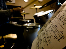 Musician Drummer Practice With...