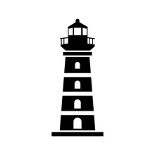 Lighthouse Tower Icon Vector D...