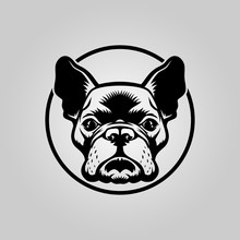 French Bulldog Head Outline Si...