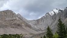 SnowTop Mountain Landscape On The Arethusa Cirque Trail, Kananaskis, Alberta.  Time Lapse, Static