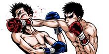 ボクシング,ストレート,パンチ,殴る,劇画,漫画、イラスト,熱血,闘い,バトル,