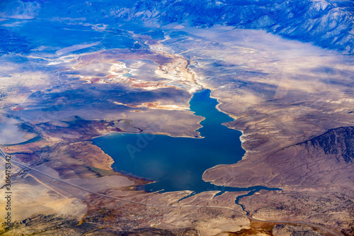 Photo  Aerial view of the Lake Crowley
